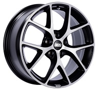 BBS SR 19x8.5 5x114.3 ET45 Satin Black Diamond Cut Face Wheels -82mm PFS/Clip Required