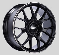 BBS CH-R 20x9.5 5x114.3 ET40 CB66 Satin Black Polished Rim Protector Wheels