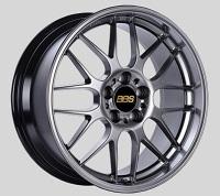 BBS RG-R 17x9.5 5x114.3 ET38 Diamond Black Wheels -82mm PFS/Clip Required