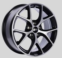 BBS SR 17x7.5 5x100 ET48 Satin Black Diamond Cut Face Wheels -70mm PFS/Clip Required