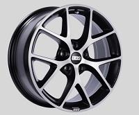BBS SR 18x8 5x114.3 ET40 Satin Black Diamond Cut Face Wheels -82mm PFS/Clip Required