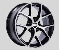 BBS SR 18x8 5x114.3 ET50 Satin Black Diamond Cut Face Wheels -82mm PFS/Clip Required