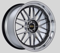 BBS LM 20x10.5 5x114.3 ET20 CB66 Diamond Black Center Diamond Cut Lip Wheels