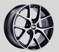 BBS SR 18x8 5x100 ET48 Satin Black Diamond Cut Face Wheels -70mm PFS/Clip Required
