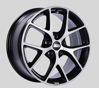 BBS SR 18x8 5x100 ET48 Satin Black Diamond Cut Face Wheels -70mm PFS/Clip Required