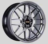 BBS RG-R 19x8 5x114.3 ET42 Diamond Black Wheels -82mm PFS/Clip Required