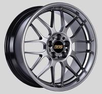 BBS RG-R 19x8 5x114.3 ET42 Diamond Black Wheels -82mm PFS/Clip Required