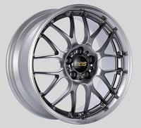 BBS RS-GT 19x8.5 5x114.3 ET30 Diamond Black Center Diamond Cut Lip Wheels -82mm PFS/Clip Required
