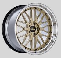 BBS LM 20x10.5 5x114.3 ET20 CB66 Gold Center Diamond Cut Lip Wheels