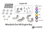 Dress Up Bolts Titanium Engine Kit - EVO 8