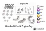 Dress Up Bolts Titanium Engine Bay Kit - EVO 9
