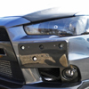 Rexpeed Carbon Fiber Front License Plate Bracket - EVO X