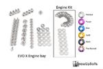 Dress Up Bolts Titanium Engine Bay Kit - EVO X
