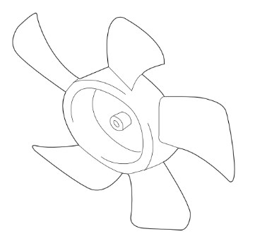 Mitsubishi OEM A/C Condenser Fan Blade - EVO 8/9