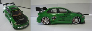 Limited Edition 2003 Lancer EVO 8 Mini Green Car **ONLY 1 LEFT AVAILABLE!**
