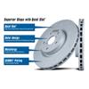 Hawk Quiet Slot Front Brake Rotor - EVO X