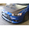 APR Front Splitter w/Rods - Lancer Ralliart 2009+