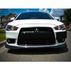 JDP Engineering Ralliart Inspired Carbon Fiber Front Lip - 09+ Lancer Ralliart