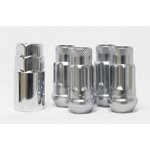 Muteki SR48 Black Open End Locking Lug Nut Set of 4 - 12x1.50 48mm