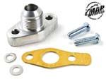 MAPerformance Oil Drain Flange for T3/T4 Journal Bearing Turbochargers - Evo 8/9