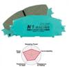 Project Mu N1-RACING Rear Brake Pads - EVO 8/9