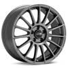 """O.Z Superturismo LM Matte Graphite Silver 19"""" Rims Set (4) EVO X"""