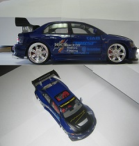 Limited Edition 2003 Lancer EVO 8 Mini Violet/Blue Car **ONLY 1 LEFT AVAILABLE!**