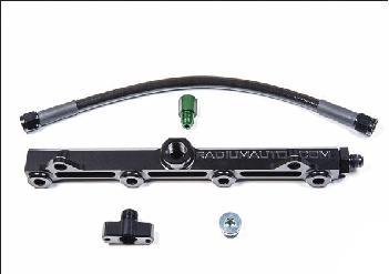 Radium Fuelrail Evo X OEM Configuation Fuel Rail Kit - Black