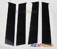 Rexpeed Evo X Carbon Fiber 6 pc Pillar Trim