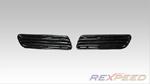 Rexpeed OEM Style Twin Bonnet Vent- Evo X