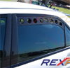 Rexpeed Black Rear Window Vent Set - EVO 8/9