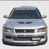 ChargeSpeed Bottom Line Carbon Fiber Front Lip Spoiler - EVO 8