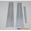 Rexpeed Silver Carbon Fiber Pillar Trim - EVO 8/9