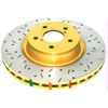 DBA Front Drilled & Slotted 4000 Series Rotors - 2008-2014 EVO X