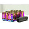 Muteki SR48 Neon Chrome Lug Nuts Open End 12x1.50