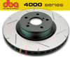 DBA EVO 4000 Rear Slotted Brake Rotors Set