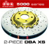 DBA 5000 EVO Front Drilled Brake Rotors Set