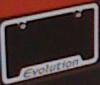 Mitsubishi OEM Evolution License Plate Frame