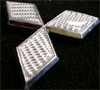 Mitsubishi Diamond Emblem Silver Carbon Fiber (Rear EVO)