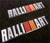 Ralliart JDM Aluminum Badge Set (2)