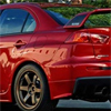 Rexpeed Carbon Fiber Wing Decal 2pc - EVO X