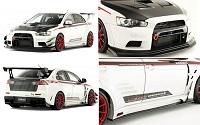 VARIS Wide Body Kit, Full Kit D for the Mitsubishi Evo X