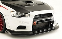 VARIS Widebody Front Bumper and Front Diffuser Set for Mitsubishi EVO X