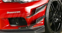VARIS 09' Ver. Canards, Double, FRP for Mitsubishi EVO X 2009 Version