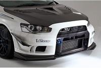 Varis Ver. Ultimate Front Bumper, Ver 2 (FRP) with Underlip (Carbon) for Mitsubishi EVO X 2014 Version Ultimate