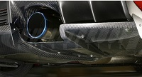 VARIS 09' Ver. Center Splitter Fin Replacement, Carbon for Mitsubishi EVO X 2009 Version