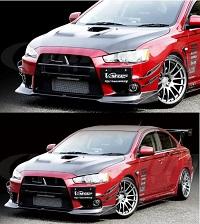 VARIS Front Spoiler, Carbon for Mitsubishi EVO X CZ4A Version