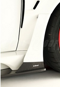VARIS Widebody Side Air Panel Only, Carbon for the Mitsubishi Evo X