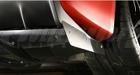 VARIS 09' Ver. Rear Side Splitter Fins Replacement, Carbon for Mitsubishi EVO X 2009 Version